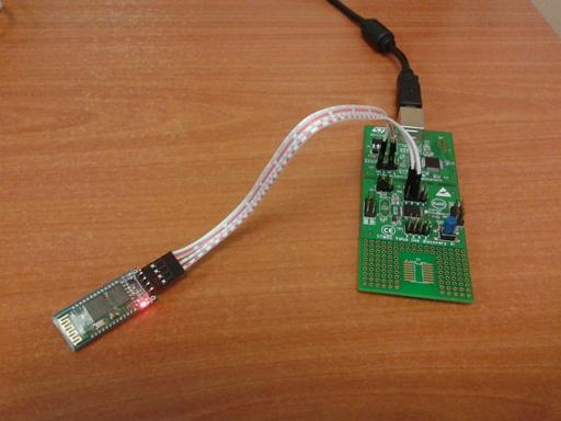STM8 VL Discovery ve HC-06 Bluetooth Modül İkilisi