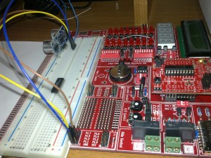 çizgi tagem msp430 geliştirme kiti HC-SR04 sensor