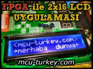 FPGA ile 2x16 LCD Uygulaması
