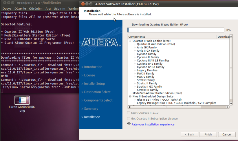 MCU Turkey – Linux Ubuntu Altında Quartus II ve Modelsim Kurulumu